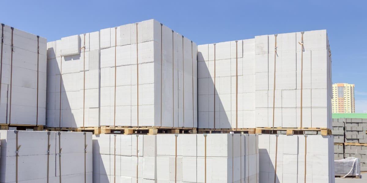 Aircrete Blocks Stack