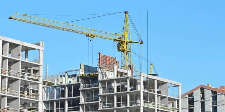 Construction Site and Crane