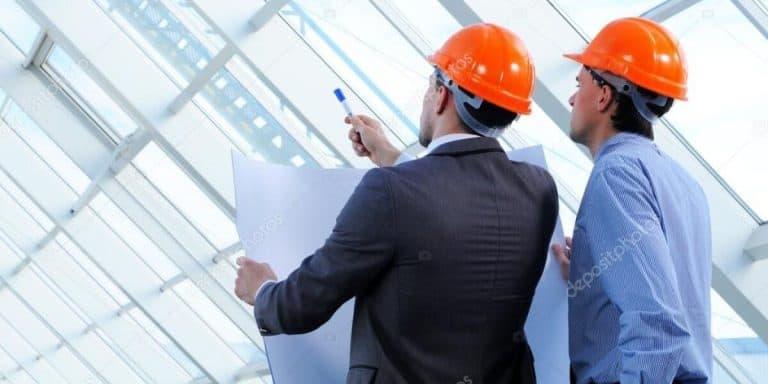 Commercial Construction Contractors at Site