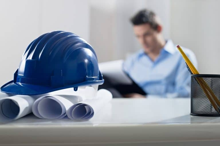 Construction Manager at Desk