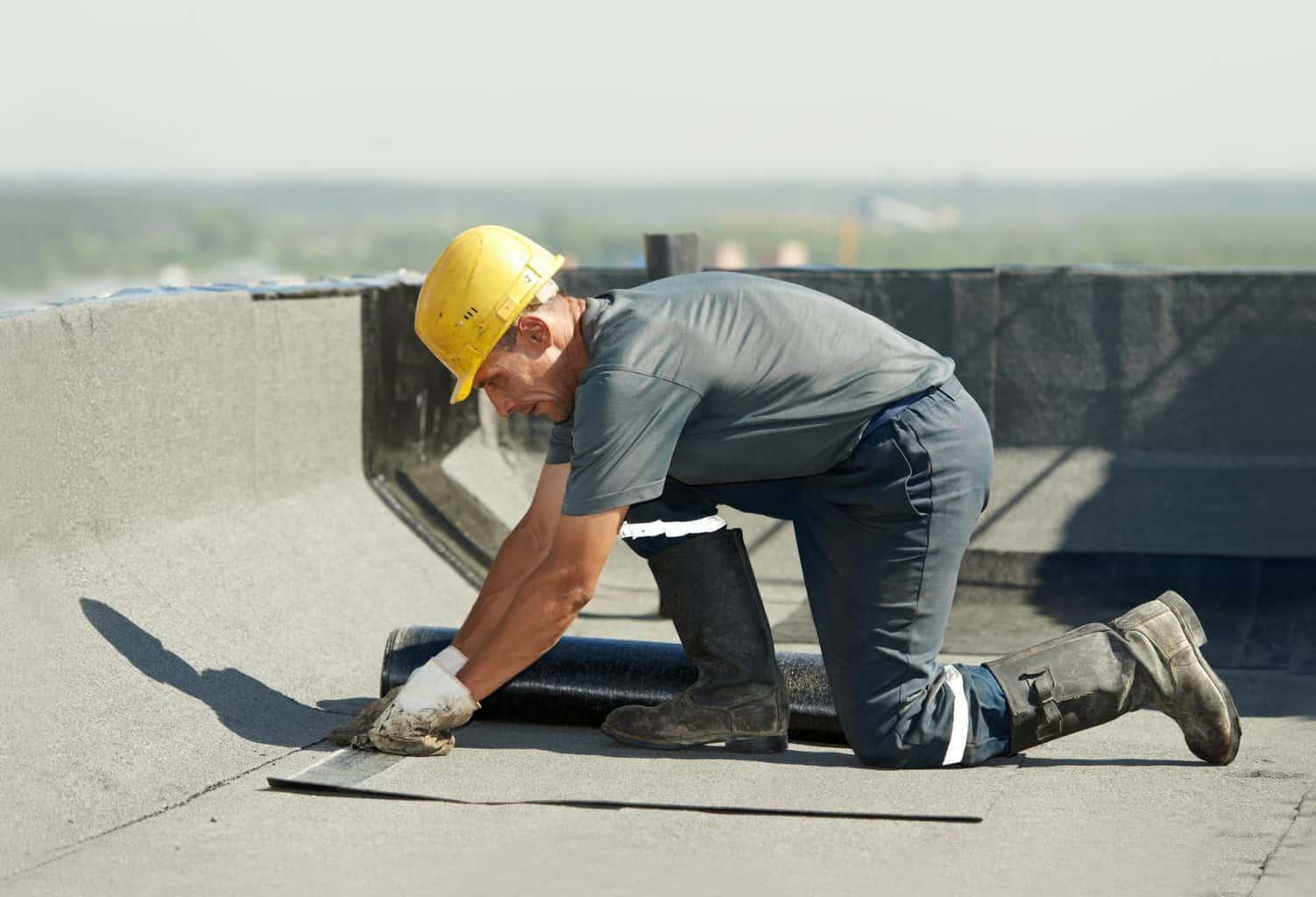 Hot felt roofing installation