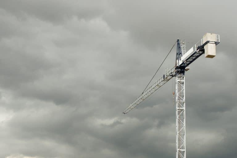 Construction Crane Stormy Weather
