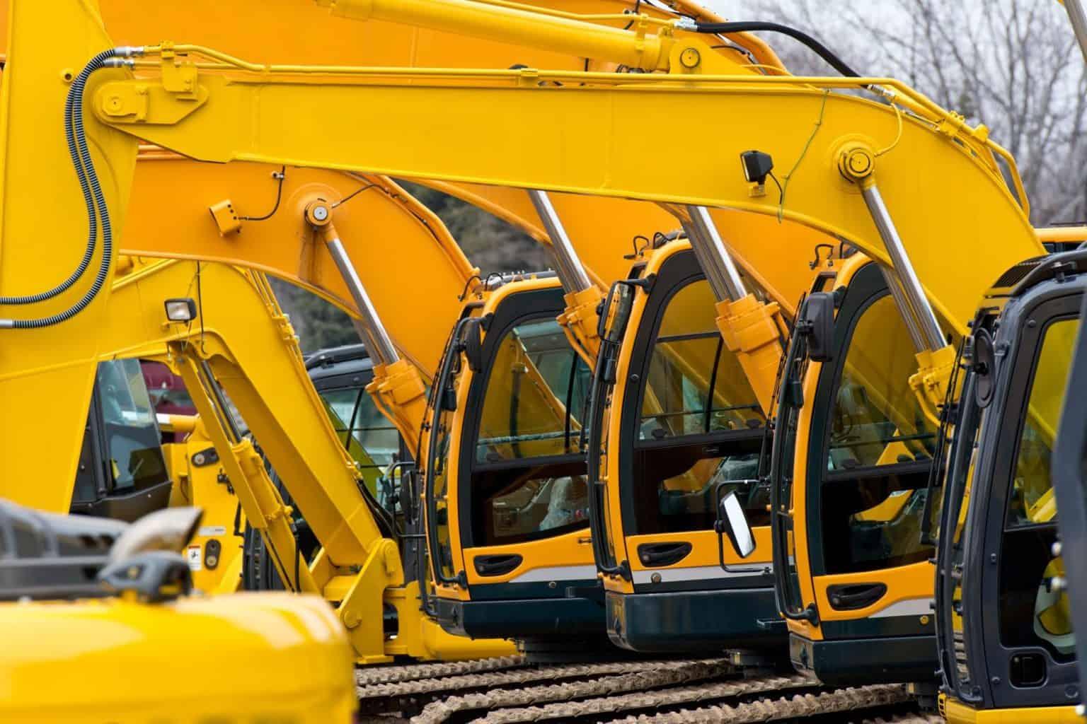 Yellow Construction Equipment