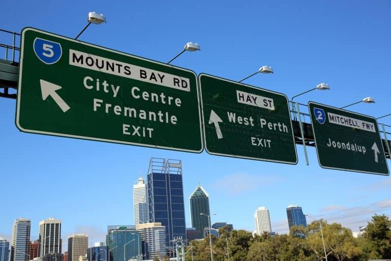 Green Highway Signage