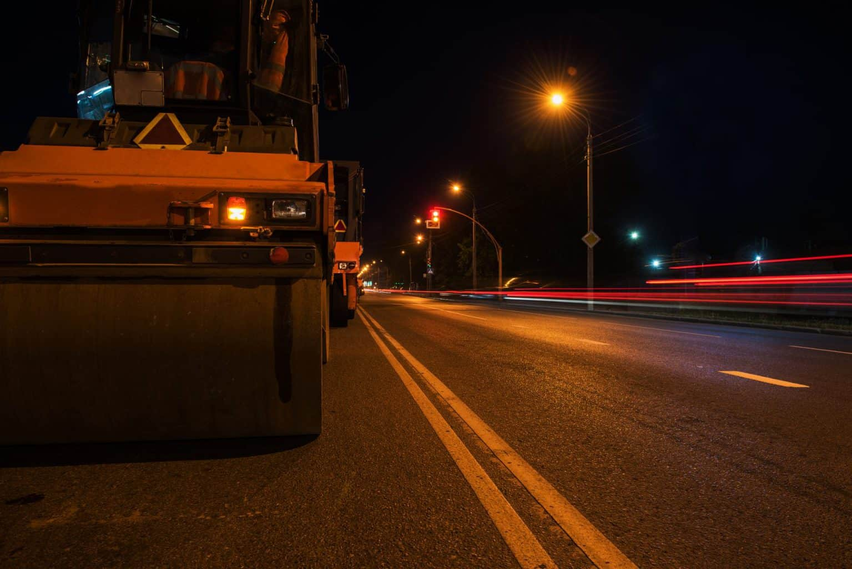 Road Construction at Night